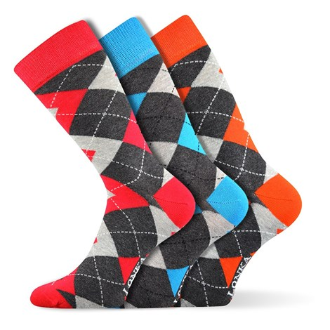Lonka 3pack módních ponožek Woodoo MixF barevná 43-46