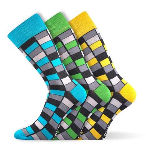 Lonka 3pack módních ponožek Woodoo MixG barevná 43-46