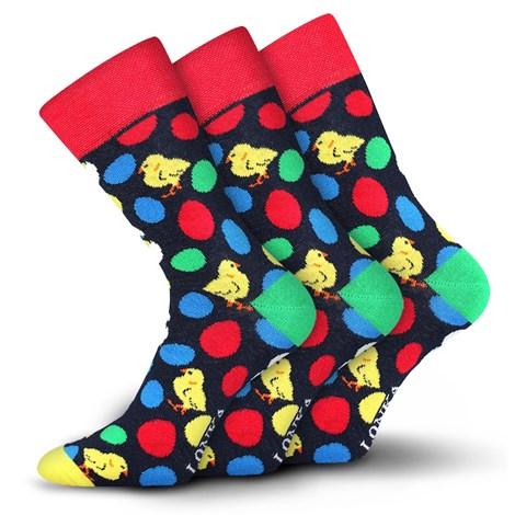Lonka 3pack módních ponožek Woodoo MixM barevná 43-46