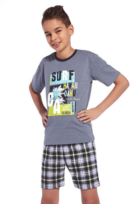 Cornette Chlapecké pyžamo Surf modrá 158/164