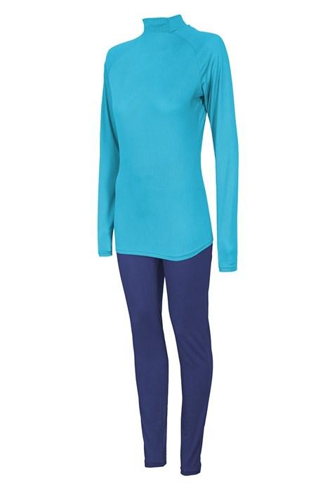 4F Dámský funkční komplet 4F Thermo Dry tričko a spodky tyrkysová XXL