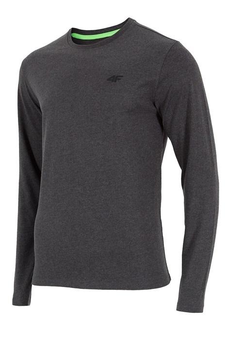 4F Pánské tričko 4F šedé dlouhý rukáv šedivá S