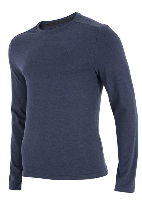 4F Pánské tričko 4F modré dlouhý rukáv modrá S