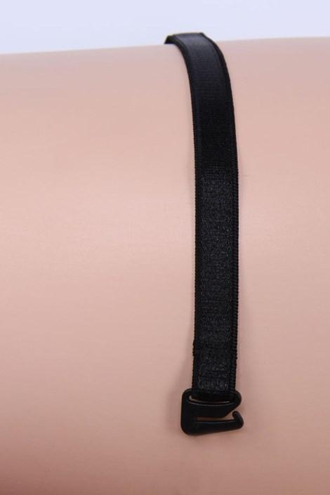 Textilní ramínka 10 mm černá