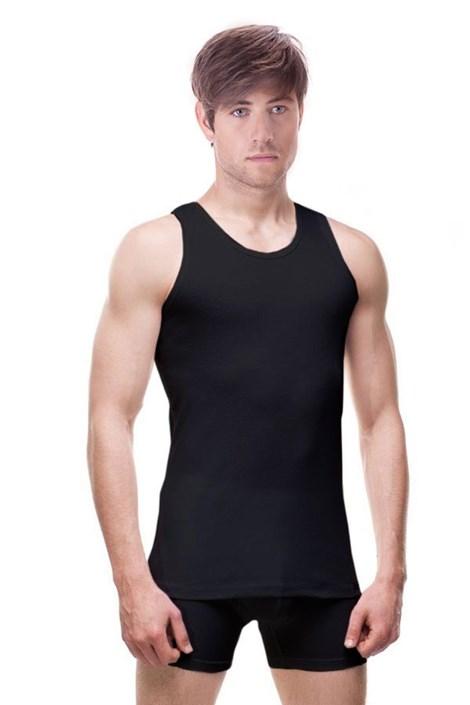 Cornette Pánský nátělník CORNETTE Alberto 100% bavlna černá 5XL