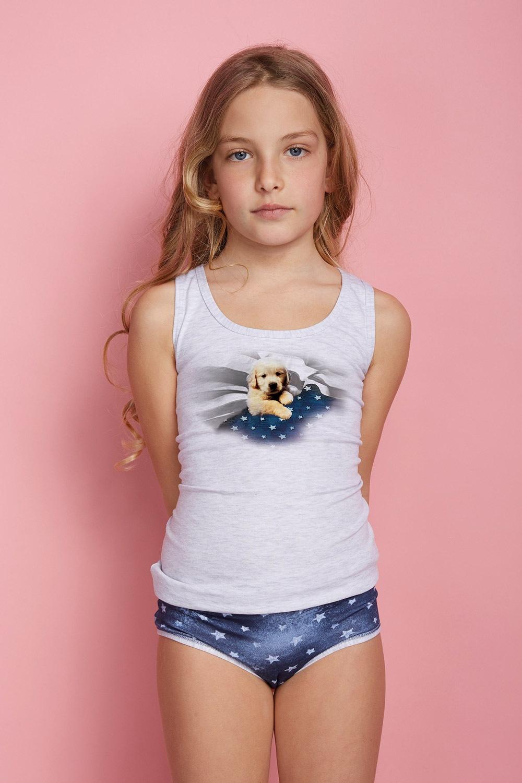 Dívčí komplet kalhotek a tílka Dog  0570a41a8b
