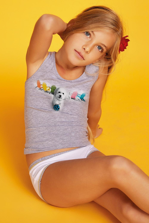 Dívčí komplet kalhotek a tílka Susan  10dd584440