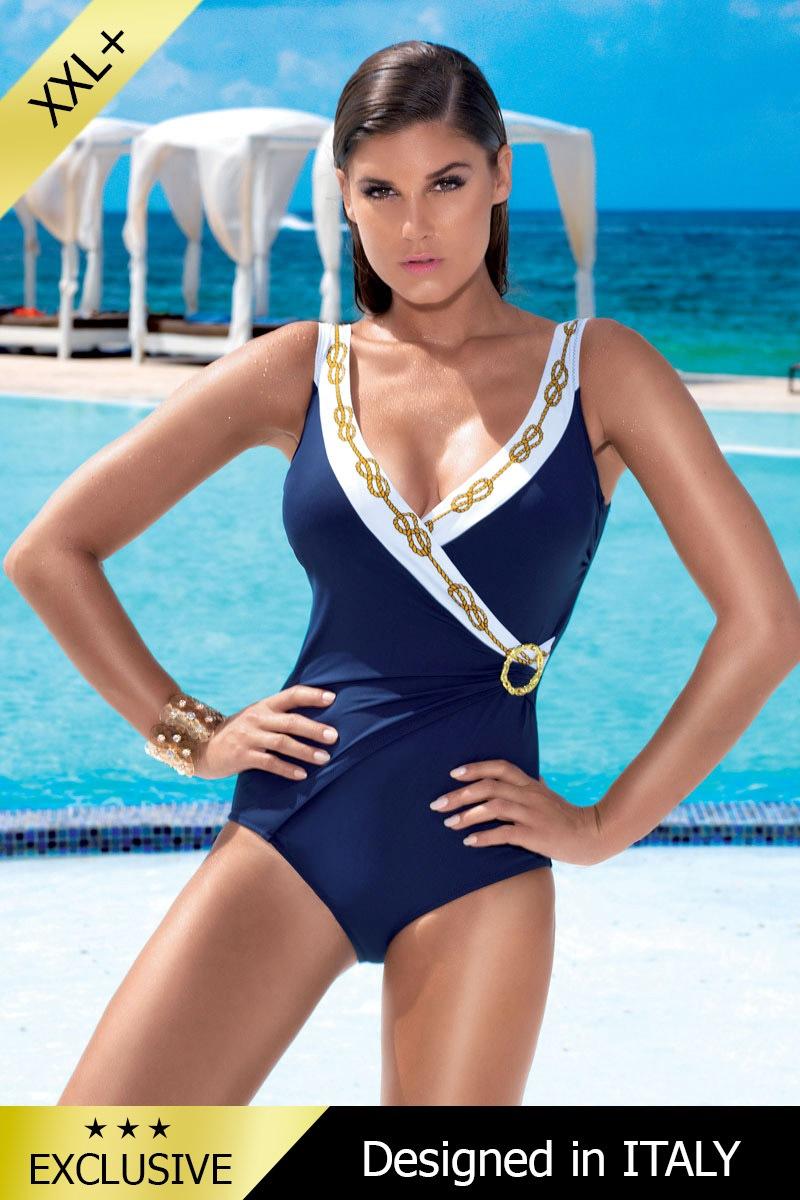 Dámské luxusní jednodílné italské plavky 5501F1 se stahovacím efektem 152e2e87f9