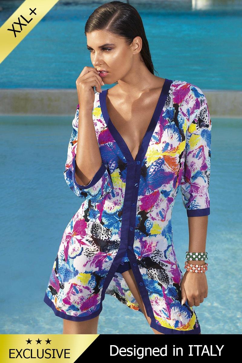 70a7eb3fb0cc Luxusní italské plážové šaty - pareo 560E2