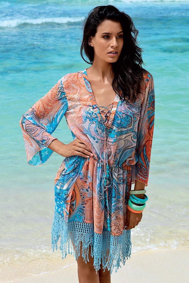 5a9ea9dfc5e8 Dámské plážové šaty Valeria