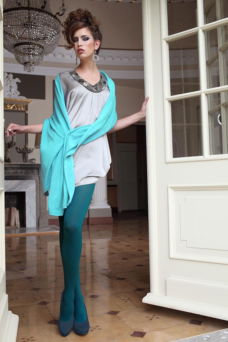 20d701b82f9 Elegantní punčochové kalhoty Glamour Soft Green
