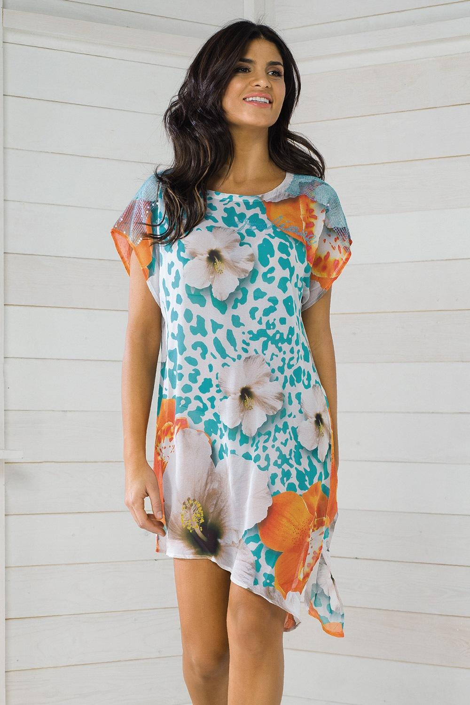 5a542abead9 Dámské italské plážové šaty Vacanze z kolekce Luxury Garden ...