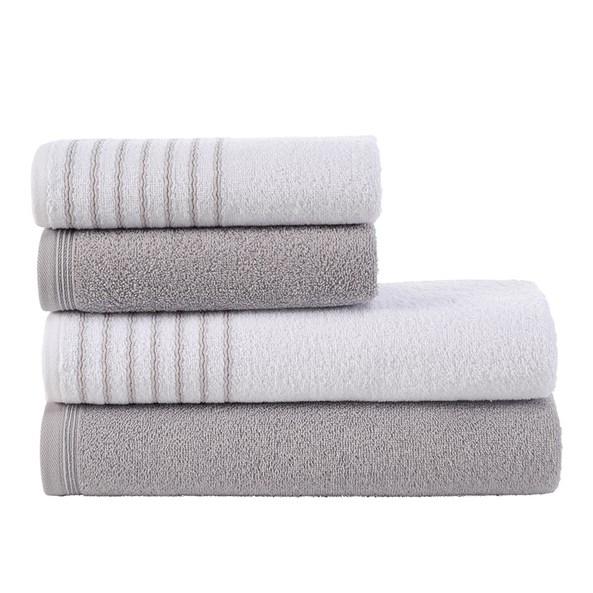 Sada ručníků a osušek Eleganza šedá