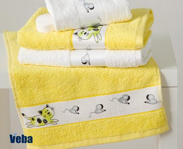 Dětský ručník Rujana Myši žlutý
