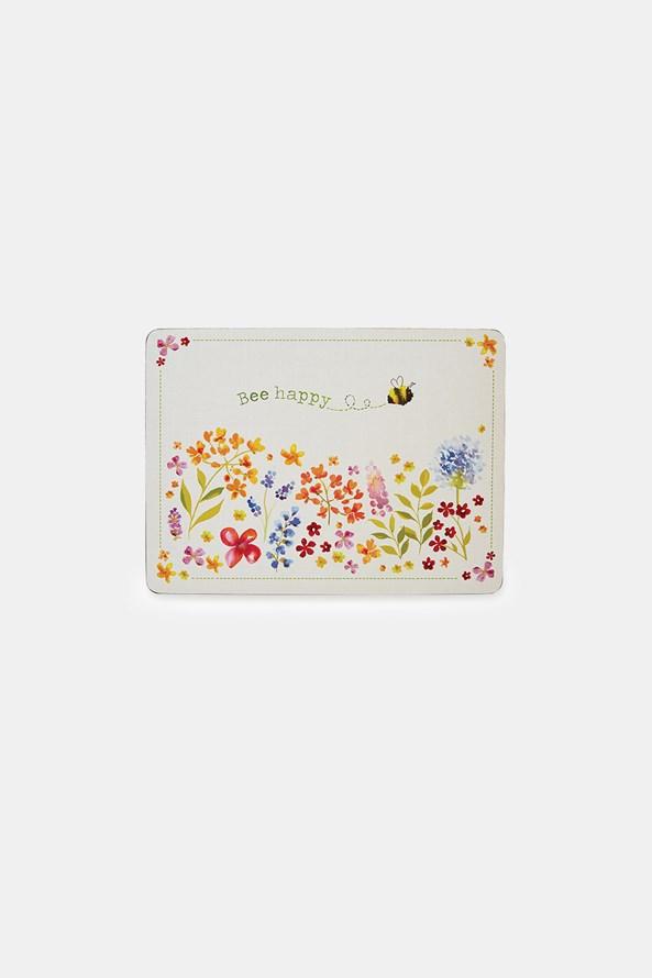 Sada korkového prostírání Bee happy