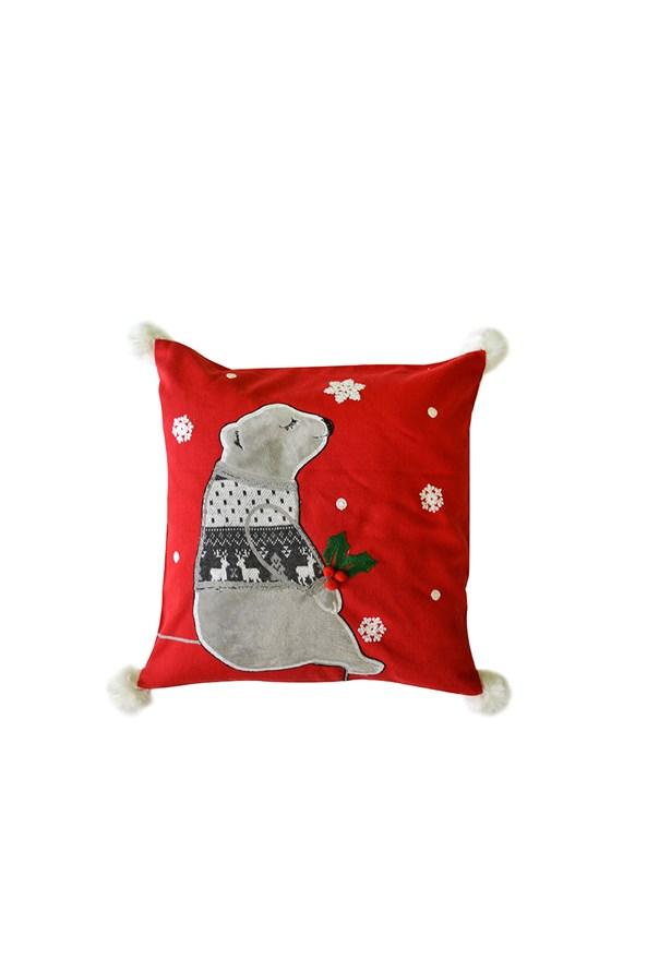 Poszewka na poduszkę Świąteczny Niedźwiadek