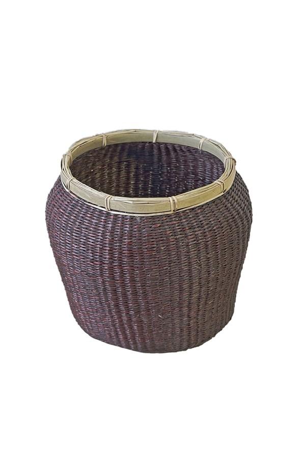 Úložný košík z morskej trávy hnedý