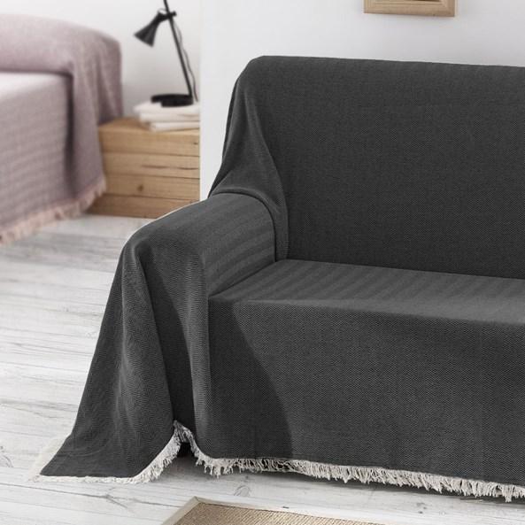 Aitana kanapévédő takaró, fekete