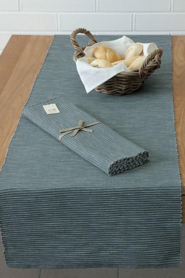 Běhoun na stůl Home Design tmavě šedý