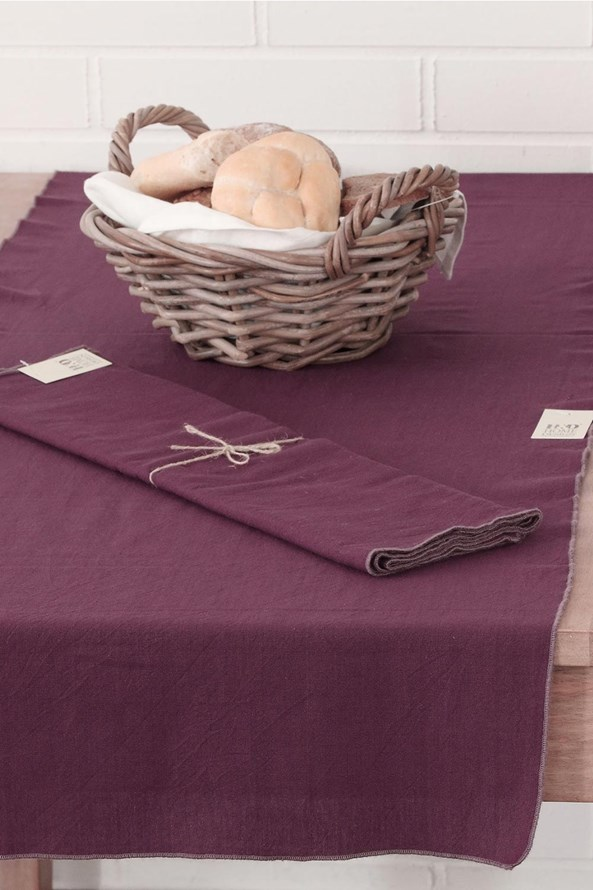 Běhoun na stůl s ozdobným lemováním Home Design fialový