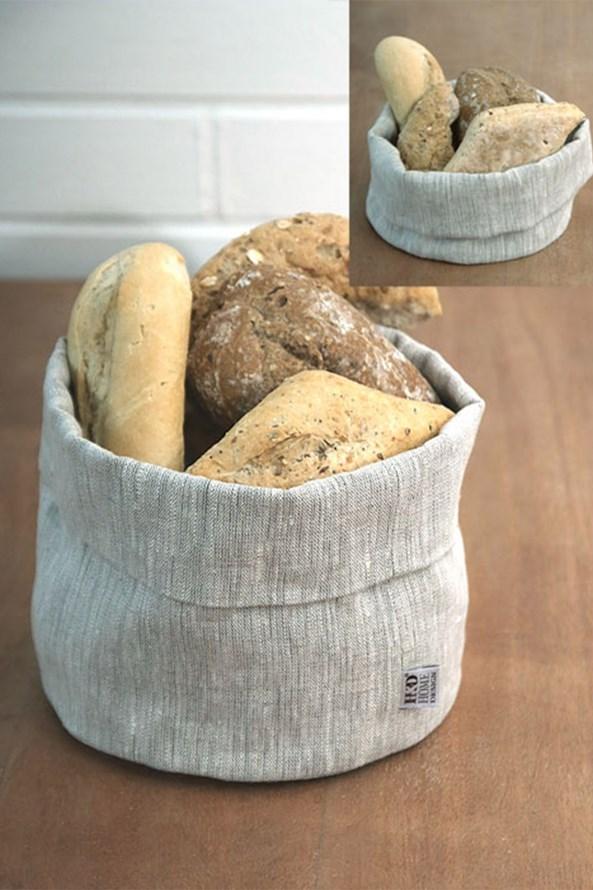 Lněný košík na pečivo Home Design