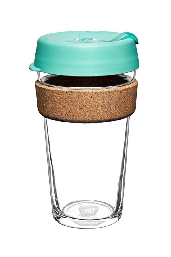 Cestovní hrnek Keepcup zelený s korkem 454 ml