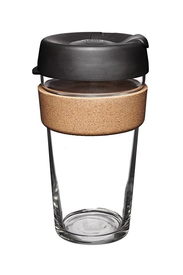 Kubek podróżny Keepcup czarny z korkiem 454 ml