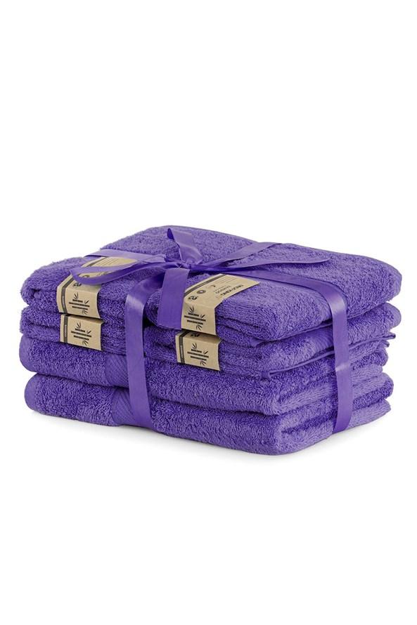 Set bambusových ručníků Bamby fialový