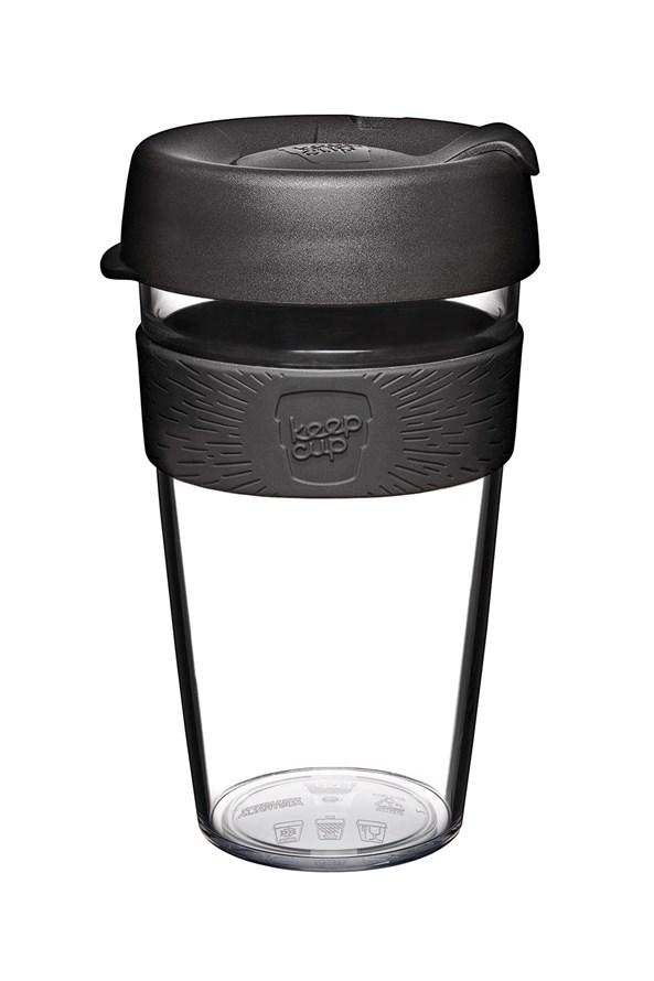 Cana Keepcup din plastic 454 ml, negru