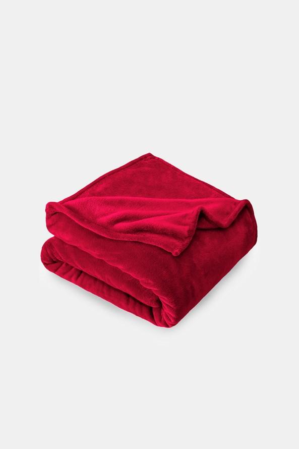 Mikroplyšová deka červená