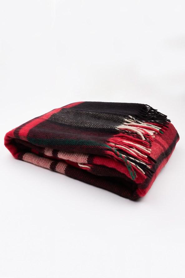 Luxusní deka z novozélandské vlny červená