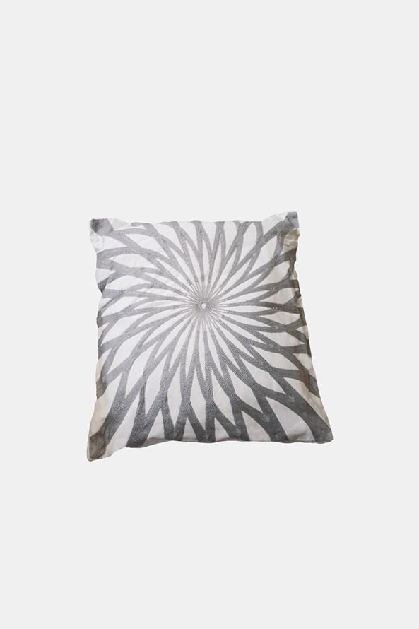 Dekorační polštářek Mandala šedý