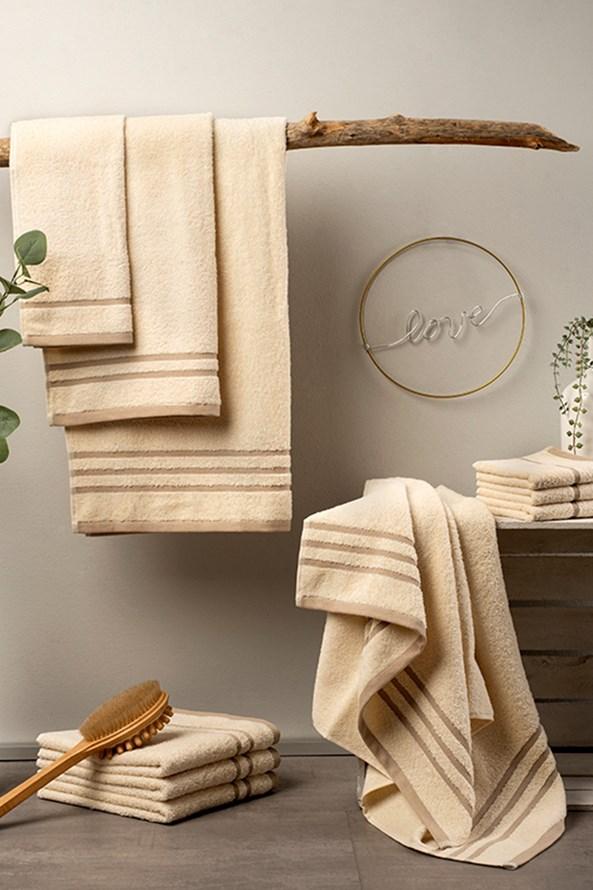 Luxusní sada ručníků Eco Nature ecru