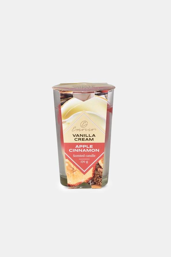 Vonná svíčka Vanilla Cream and Apple Cinnamon dvoubarevná