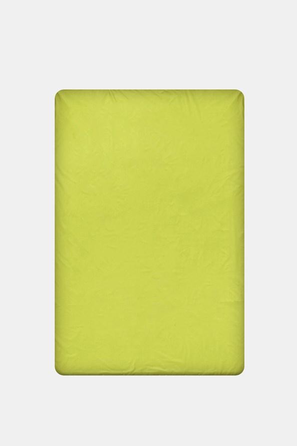 Napínací bavlněné prostěradlo zelené