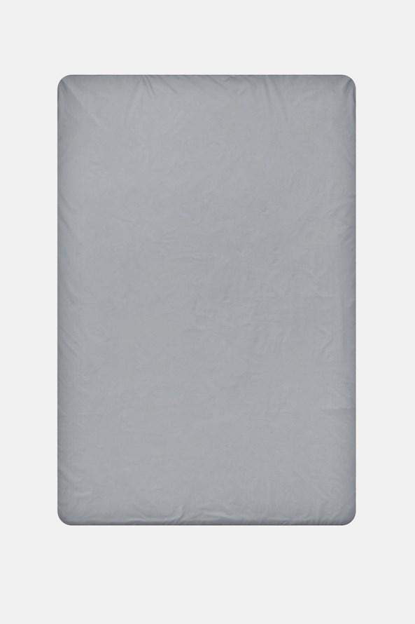Napínací bavlněné prostěradlo šedé