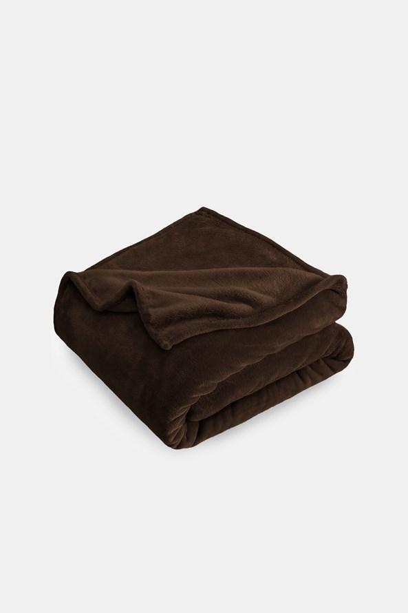 Mikroplyšová deka hnědá