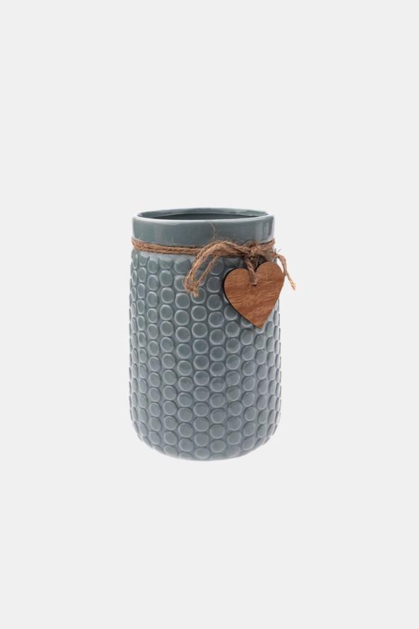 Keramická váza šedá