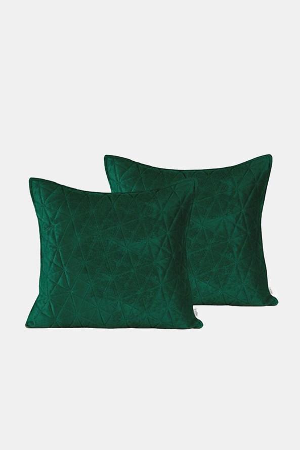 Sada 2 ks povlaků na polštářek Laila zelený