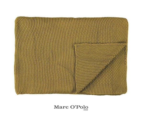 Marc O Polo Nordic Oil Yellow kötött pléd