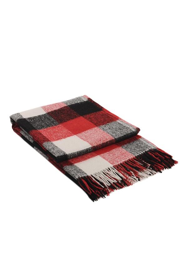Vlněná deka Palermo červená