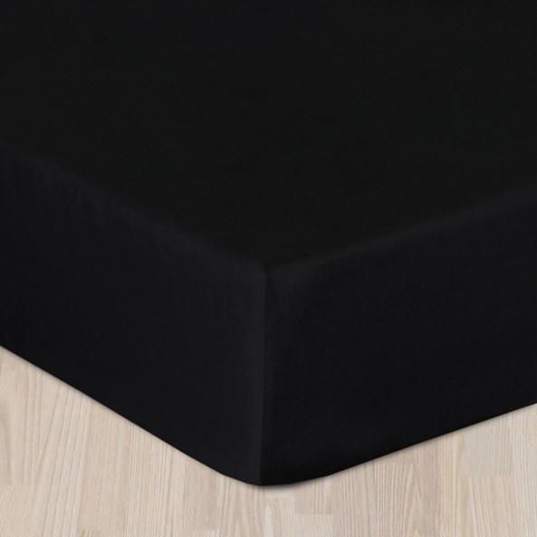 Saténové prostěradlo černé