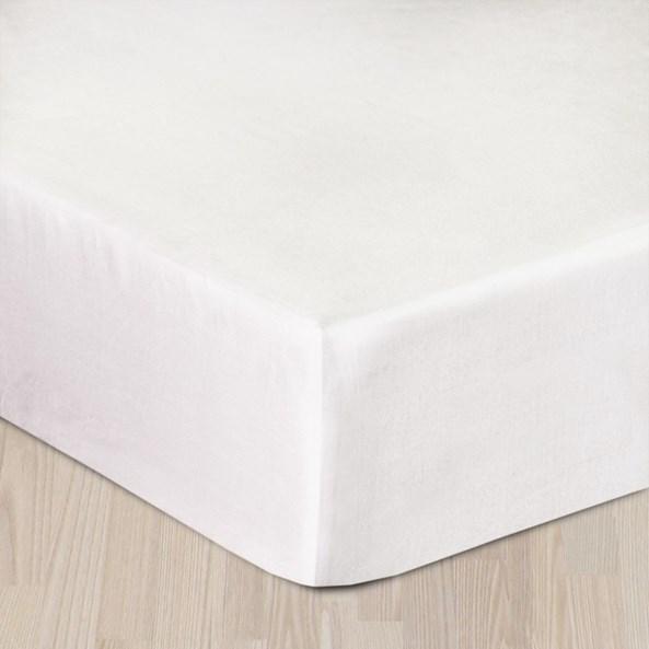 Saténové prostěradlo bílé