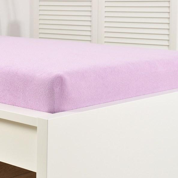 Napínací prostěradlo froté fialové