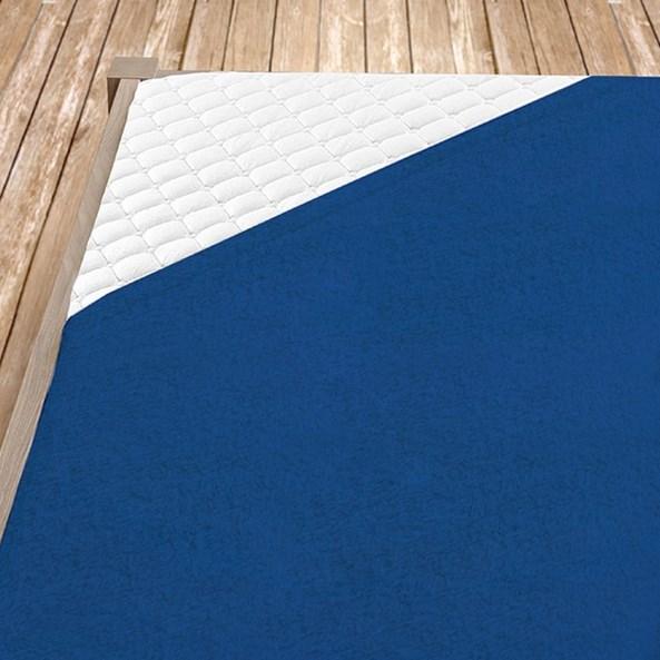 Napínací froté prostěradlo tmavě modré