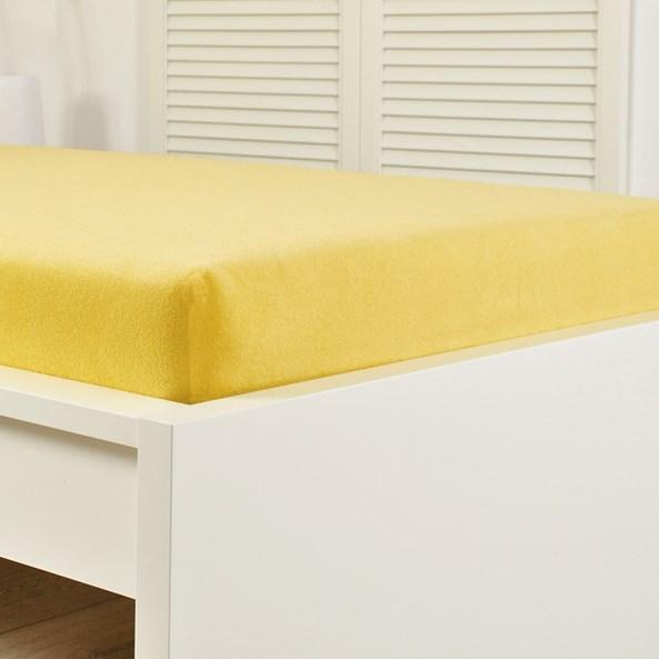 Napínací prostěradlo froté žluté