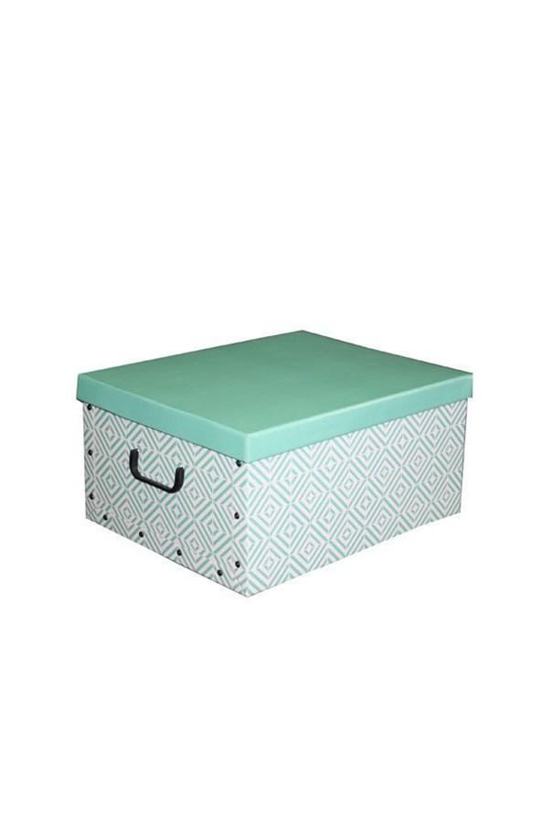 Skládací úložná krabice Nordic zelená