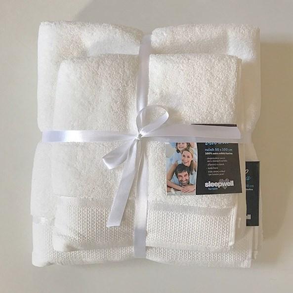 Prezentowy komplet ręczników mikrobawełna ecru