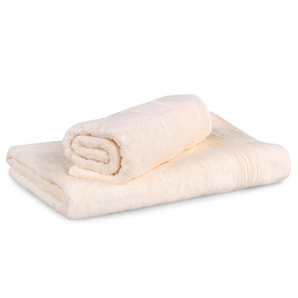Set 2 bambusových ručníků Moreno ecru