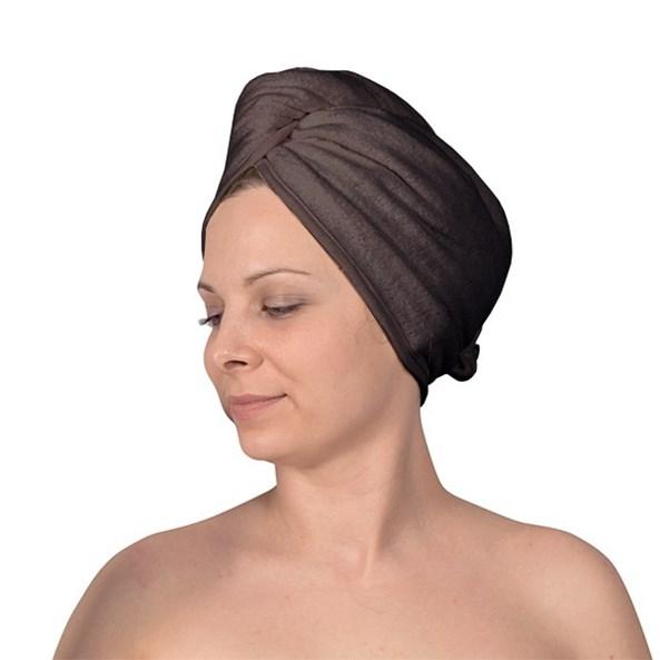 Turban na vlasy šedý